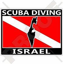 Aufkleber für Stoßstange, Israel-Flagge,