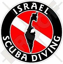 Aufkleber für Stoßstange, israelische Flagge,