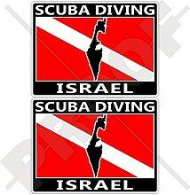 Aufkleber für Stoßstange, israelische Flagge, 75