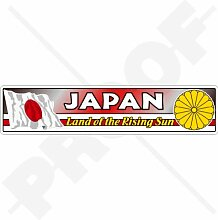 Aufkleber für Stoßstange, japanische Flagge,