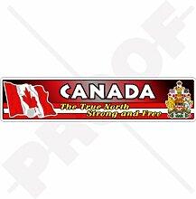 Aufkleber für Stoßstange, Kanada-Flagge, Wappen,