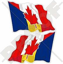 Aufkleber für Stoßstange, Kanada-rumänische