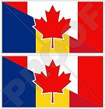 Aufkleber für Stoßstange, Kanada- und