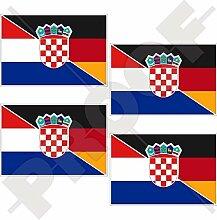Aufkleber für Stoßstange, kroatische, deutsche