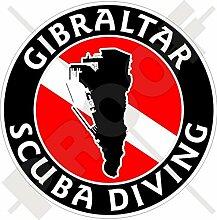 Aufkleber für Stoßstange, Motiv: Gibraltar,