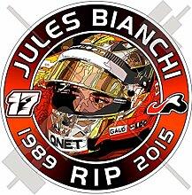 Aufkleber für Stoßstange, Motiv: Jules Bianchi