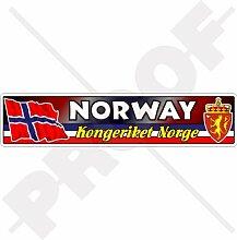 Aufkleber für Stoßstange, norwegische Flagge,