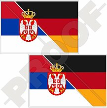 Aufkleber für Stoßstange, Serbien-Deutschland,