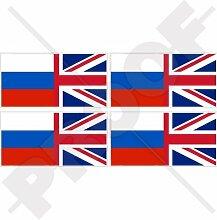 Aufkleber für Stoßstange und Helm, Motiv Flagge