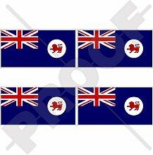 Aufkleber für Stoßstange und Helm, Motiv: Flagge
