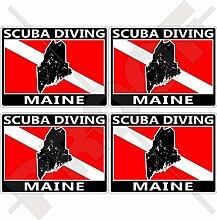 Aufkleber für Stoßstange und Helm, Motiv: Maine,