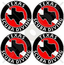 Aufkleber für Stoßstange und Helm, Motiv: Texas,