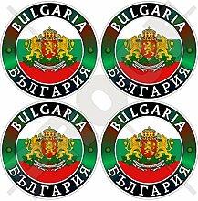 Aufkleber für Stoßstangen/Helm, Motiv: Bulgarien