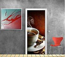 Aufkleber für Türen Deko Küche Kaffee OEM 735, 83x204cm