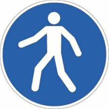 Aufkleber Fußgängerweg benutzen Antirutsch Ø 40