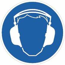 Aufkleber Gebotsschild Gehörschutz benutzen 5cm