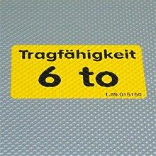 Aufkleber Gegossene PVC-Folie Grund gelb Druck max. 2-farbig Größe bis 125cm², 50 Stück