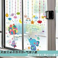 Aufkleber Glastür Aufkleber dekorative Malerei