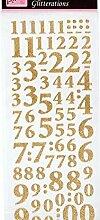 Aufkleber Glitzernden Zahlen Gold, Docrafts,