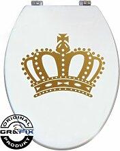 Aufkleber GOLD Krone für Pressalit WC Toiletten