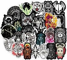 Aufkleber, Gothic-Stil, Horror, Teufel, Hexe,
