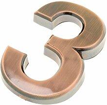 Aufkleber Hausnummer Wetterfest, 7cm 3D 0-9 Nummer