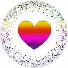 Aufkleber Herz Hotfoil metallic glänzend -