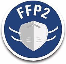 Aufkleber Hinweis FFP2-Maske benutzen Gebot Schild