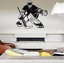 Aufkleber Hockeyspieler Eis Torhüter Wandtattoos