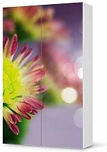 Aufkleber IKEA Besta Schrank Hochkant 2 Türen / Design Folie Spring / Möbeldekoration