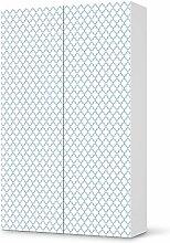 Aufkleber IKEA Besta Schrank Hochkant 2 Türen / Design Folie Retro Pattern - Blau / Möbeldekoration
