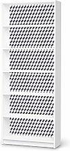 Aufkleber IKEA Billy 6 Fächer / Design Folie 3D Cubes - Grau / Möbeldekoration