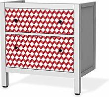 Aufkleber IKEA Hemnes Kommode 8 Schubladen /