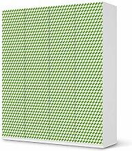 Aufkleber IKEA Pax Schrank 236 cm Höhe - 4 Türen / Design Folie 3D Cubes - Grün / Möbeldekoration