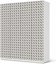 Aufkleber IKEA Pax Schrank 236 cm Höhe - 4 Türen / Design Folie Triangle Pattern - Grau / Möbeldekoration