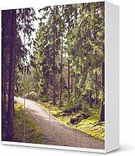 Aufkleber IKEA Pax Schrank 236 cm Höhe - 4 Türen / Design Folie Forest Walk / Möbeldekoration