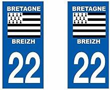 Aufkleber, Kennzeichen für Autos, Département Bretagne / 35 Ille et Vilaine