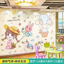 Aufkleber Kinderzimmer Wanddekoration
