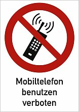 Aufkleber Kombischild Mobiltelefon benutzen