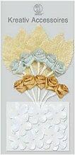 Aufkleber Kreativ Accessoires Motiv 20, Rosen gold silber