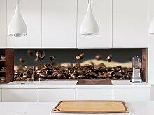 Aufkleber Küchenrückwand Kaffee Samen Kerne