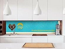 Aufkleber Küchenrückwand Spruch ein guter Morgen
