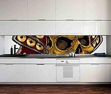 Aufkleber Küchenrückwand Viking Schädel