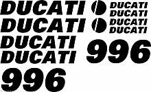 AUFKLEBER-LOGO-SET DUCATI 996 10 Teilig! - Anschauen! ALLE FARBEN!