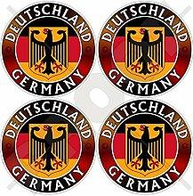 Aufkleber mit Deutschland-Flagge, Wappen,