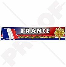 Aufkleber mit französischer Flagge, Wappen,