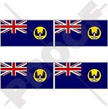 Aufkleber mit Südaustralischer Staatsflagge,