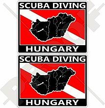 Aufkleber mit ungarischer Landkarte, 75 mm,