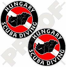 Aufkleber mit ungarischer Landkarte und
