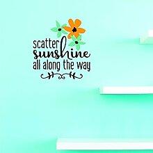 Aufkleber mit Vinyl, JER 1374 1 Scatter Sunshine,